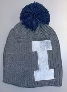 University of Illinois Fighting Illini Pom Knit Adidas Hat - Osfa - KE97Z