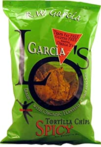 Rw Garcia Los Spicy Tortilla Chips With Flax Seeds by R.w. Garcia Lo