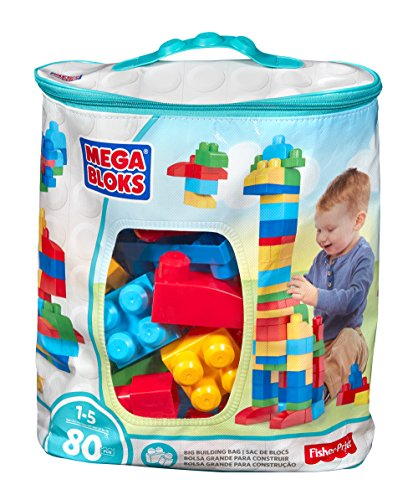 Mega Bloks Big Building Bag, 80-Piece (Classic) (Toys For 1 Year Old compare prices)