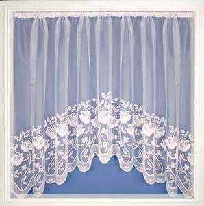 Net Curtain Jardiniere White Net Lace Curtains Salisbury 150 X36 Kitchen Home