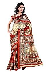 Pruthu Printed Fashionable Paper Silk Saree