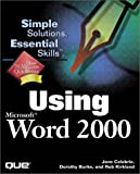 img - for Using Microsoft Word 2000 book / textbook / text book