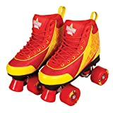 Kandy Skates Ruby Reds Roller Skates - Size 4 (Color: Red, Yellow, Tamaño: 4)