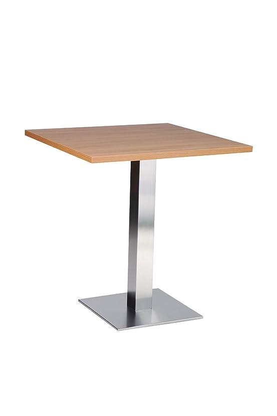 Daniella tavolo da pranzo, in acciaio INOX, con Base quadrata, in legno di quercia, 600 mm