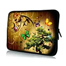 "Butterflies Art Tree 7'' 8'' Inch Soft Sleeve Bag Cover Case Pouch for 7"" Kocaso M736 M772 Android 4.1 7"" Amazon Kindle Fire Hd Kyros 7042 Google Nexus 7"
