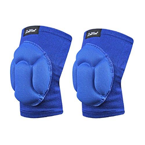 [Luwint Sponge Knee Pad High Elastic Short Keen Sleeves, Blue, 1 Pair (Blue)] (Roller Skating Costumes)