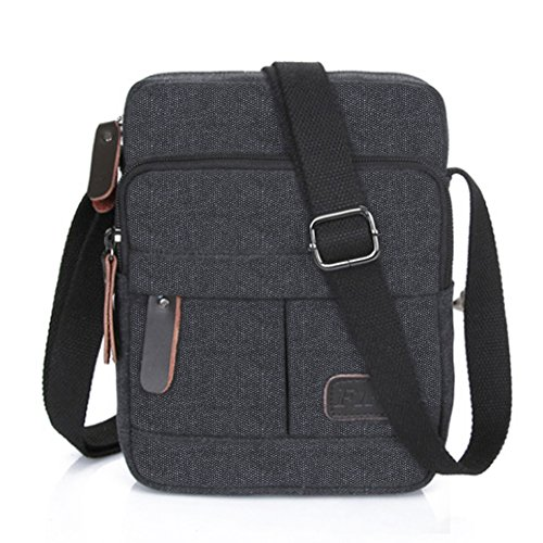 Flrsh Fashion Men's Retro lightweight Small Canvas Cross Body Everyday Satchel Bag