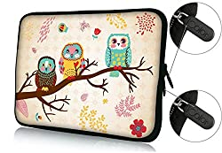 FBAps14-002 Colorfulbags ' NEW Art design cute owl 13.5