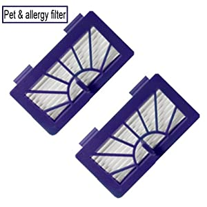 Neato Robotic Pet & Allergy Filter - Replacement For Neato 945-0048 Filter - 2 Pack from Synergy Digital