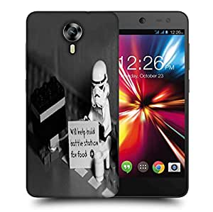 Snoogg Will Help Build Battle Printed Protective Phone Back Case Cover For Micromax Canvas Nitro 4G