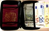 Travel Document Hard Case With Strap - Passport, Tickets, Travellers Cheques, Insurance, Money Holder etc