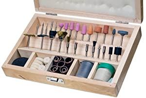 SE - Rotary Tool Accessories - Wooden Box, 228 Pc