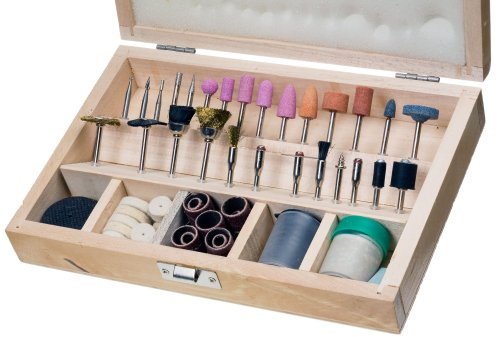 SE RA9228 228-Piece Rotary Tool Accessories Set with  Wooden Case