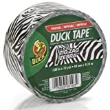 Duck Brand 280110 Zebra All Purpose Duck Tape, 1.88 Inches x 10 Yard Single Roll, Black and White