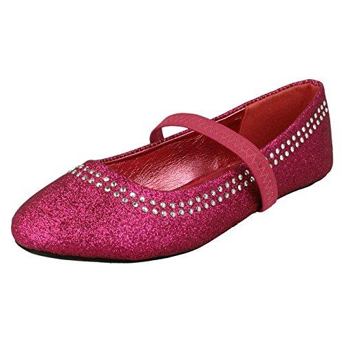 Spot On Glitter, Cinghia elastica appartamenti ragazze, (Fuchsia Glitter), 27 EU Bambino