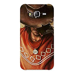 Impressive Cowboy Multicolor Back Case Cover for Samsung Galaxy J5
