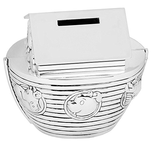 Noahs Ark Money Box Baby Christening Gift Silver Plated By Haysom Interiors