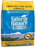 Natural Balance Dry Cat Food, Limited Ingredient Diet Green Pea and Duck Formula, 10 Pound Bag