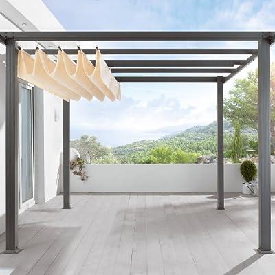 """Pavillon """"Pergola"""", Aluminium, 290 x 290 x 220 cm von PureDay auf Gartenmöbel von Du und Dein Garten"""