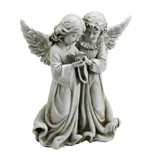 Josephs Studios Garden Figure, 66745 Two Angels Holding a Bird, 12.25 inches tall