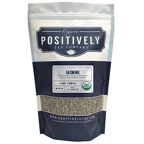 Organic Jasmine, Loose Leaf Bag, Positively Tea LLC. (1 lb.) (Positively Organic compare prices)