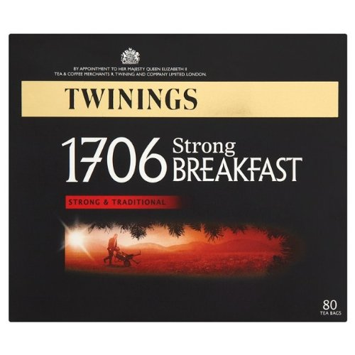 Twinings 1706 Strong Breakfast , Strong & Traditional Uk, 80 Tea Bags