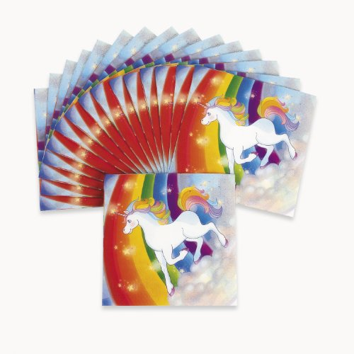 Fun Express FX IN-70/7741 16 Piece Unicorn Rainbow Lunch Napkins