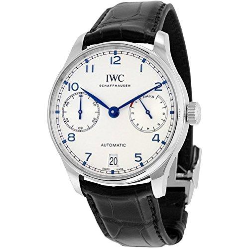 iwc-portugieser-homme-bracelet-cuir-noir-boitier-acier-inoxydable-saphire-automatique-montre-iw50070