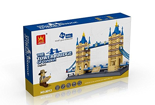 FireBeast Tower Bridge of London England BUILDING BLOCKS 1033 pcs setWorlds great architecture series - COLLECT THEM all Compatible with Lego parts