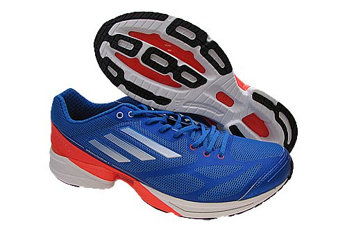 62011bd5269439 Mens Adidas Adizero Feather 2 0 Running Shoes Bright Blue White Red G61901  Size 11