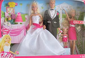 Wedding Gift Set Barbie : Amazon.com: BARBIE I Can Be .. WEDDING GIFT Set w BARBIE, KEN, SKIPPER ...
