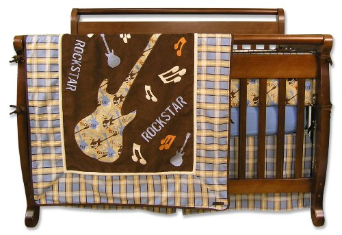 Discount Trend Lab Rockstar 4 Piece Crib Bedding Set