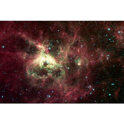 Tarantula Nebula Space Photo Art Poster Print - 13X19 Custom Fit With Richandframous Black 19 Inch Poster Hangers