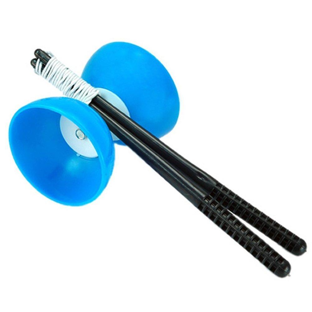Tinksky Klassische chinesische Yo-Yos Diabolo jonglieren, Spinning Toy mit Hand klebt (blau) günstig