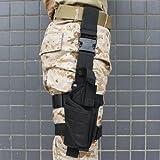 AGPtek® Tactical Army Black Pistol/Gun Drop Leg Thigh Holster