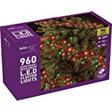 Brite Ideas Festive 960 Multiaction Cluster LED Lights, Red/Green