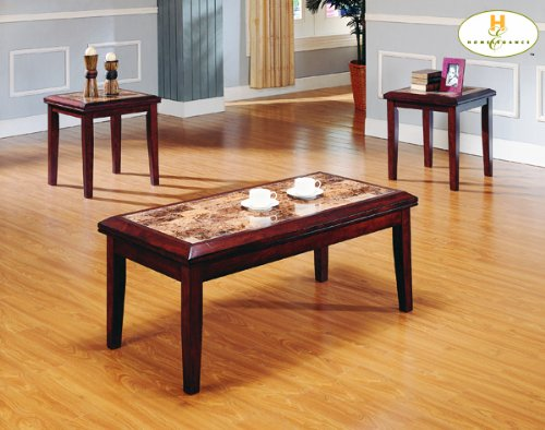 3 Pc. Faux Marble / Wood Table Set By Homelegance Furniture # 3276-31