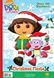 Christmas Fiesta (Dora the Explorer) (Giant Coloring Book):  One of the Christmas Dora Coloring Book
