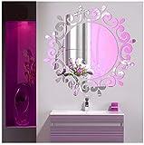 サクララ(Sakulala) ウォールミラーステッカー 部屋 飾り ウォールシール 割れない鏡 取り外し可能 デカール ビニール アート 天井