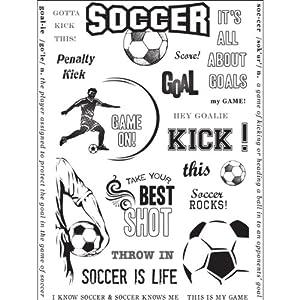 Amazon.com - Hampton Art Warehouse Soccer Rubber Stamp ...