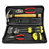 General Repair Tool Kit in Water-Resistant Black Zippered Case - Sold As 1 Each