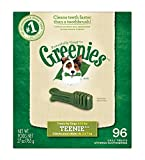 GREENIES Dental Chews TEENIE Treats for Dogs - Treat TUB-PAK Package 27 oz. 96 Count
