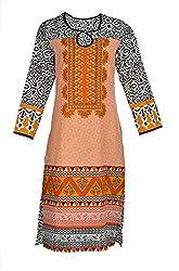Artisan Women's Cotton Straight Kurta (CZF10030_L, L)