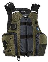 MTI Adventurewear Calcutta Kayak Fishing Angler PFD Life Jacket (Olive, Universal Size)