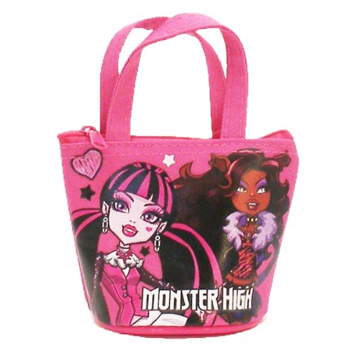 Officially Licensed Monster High Mini Handbag Style Coin Purse - Draculaura and Clawdeen Wolf - 1