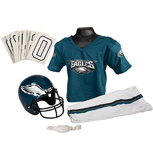 Franklin Sports NFL Philadelphia Eagles Youth Licensed Deluxe Uniform Set, Large