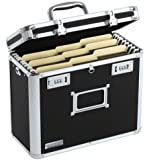 Vaultz Locking Personal File Tote for Letter Size Documents, Black (VZ01187)