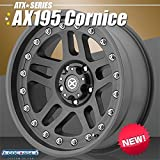 American Racing ATX series(アメリカンレーシングATXシリーズ) AX195 Cornice(コーニス)ブラックテフロンコーティング 18インチ 1本 ボルト・PCD:6x114.3 オフセット:-12