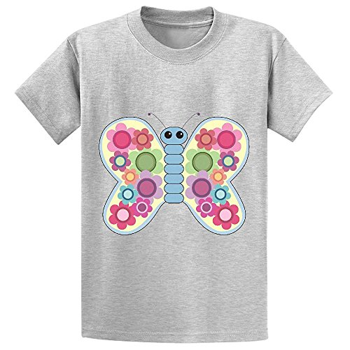 snowl-butterfly-teen-crew-neck-customized-t-shirts-grey