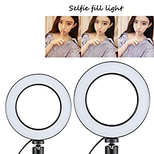 SYL 6 in O Ring Fill Light for Live Streaming, YouTube Video Production, Photography, Online Teaching, Dimmable LED Lighting Replacement (16CM Ring Li